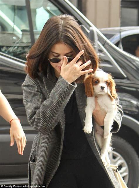 puppy singer selena gomez brings new best friend to nyc woody allen set