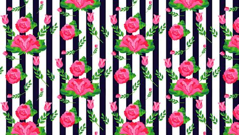 illustrator tutorial rose how to create a stripes and flowers pattern from scratch