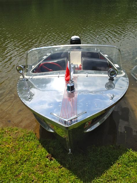 1957 wolverine 16 aluminum boat for sale in cadillac boats
