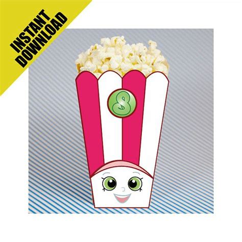 shopkins popcorn box instant printable