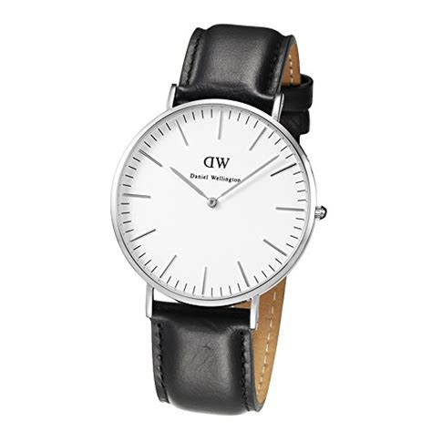 new daniel wellington mens classic sheffield silver tone leather 0206dw ebay