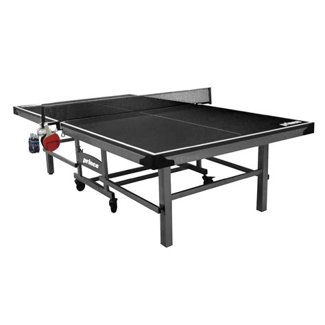 prince match ping pong table prince challenger table tennis table w accessory rack