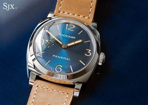 with blue on with the panerai radiomir 1940 blue special edition pam690 sjx watches
