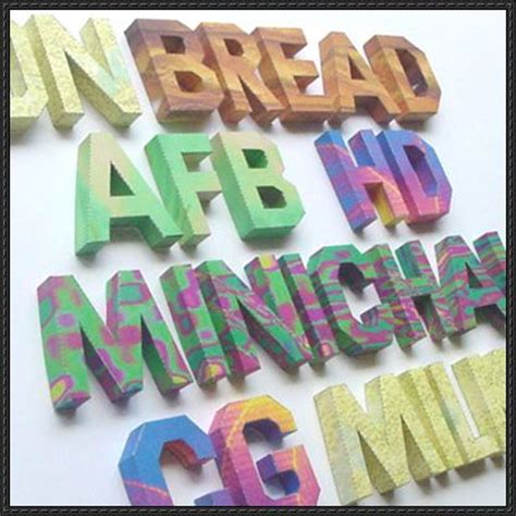 Papercraft Alphabet - alphabet papercraft white version free