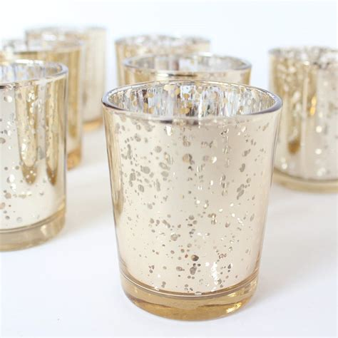 Mercury Glass Candle Holders Z Gallerie by Set Of 72 Chagne Light Gold Mercury Glass Candle Votive