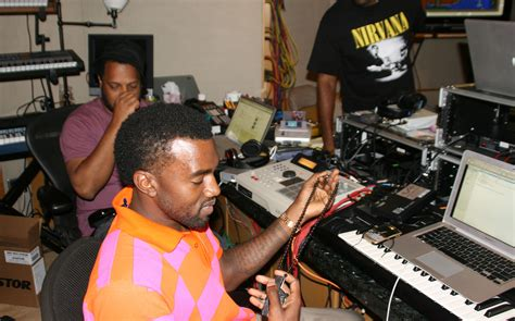 Ny Hip Hoppers Rally For Injured Dj Big Wiz by File Kanye West In The Studio Jpg Wikimedia Commons
