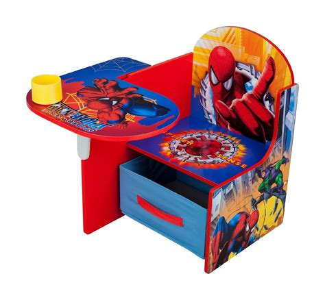 chair desk with storage bin delta children spiderman chair desk