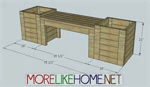 more like home diy plans for bench and planters diy