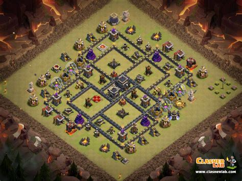 layout coc base war th9 coc best th9 war base epic town hall 9 base anti 3