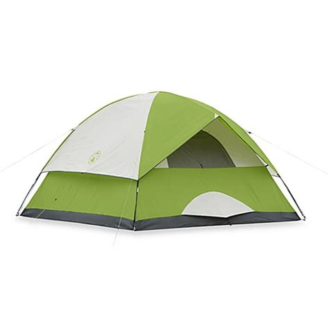 Coleman Sundome 6 Person Tent Redwhite buy coleman 174 sundome 174 6 person tent in green from bed bath