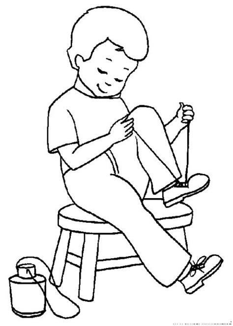 dibujos para nios de hombres para colorear pintar dibujo para colorear de zapatos de cordones para los nios