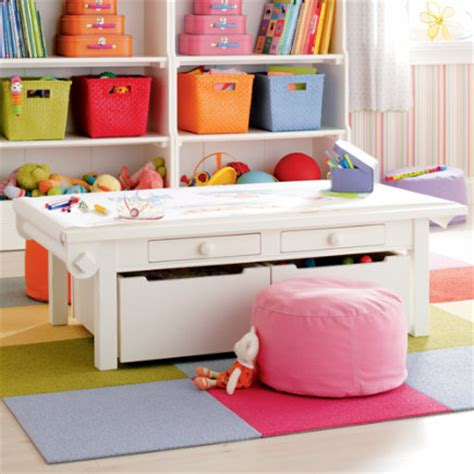 white play table with storage play table room decor