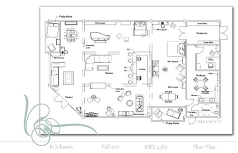 floor plan furniture store b schwarz interiors 187 retail project
