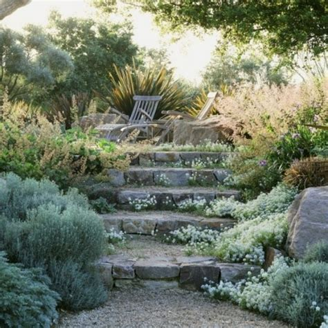 stone hill design associates informal stone steps in a northern california garden by