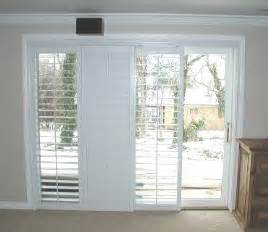 Interior Shutters For Sliding Glass Doors by Plantation Shutters On Sliding Glass Door For Family