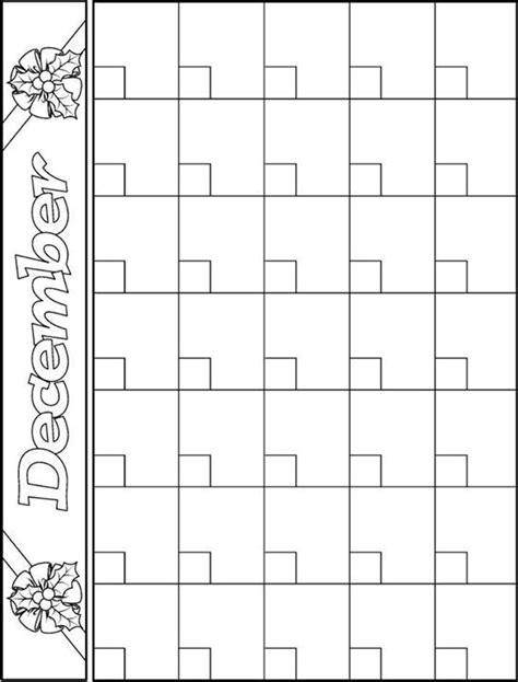 printable december calendar for kindergarten best 20 calendar templates ideas on pinterest free