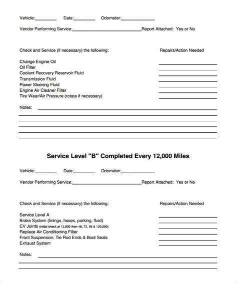 50 unique vehicle maintenance schedule excel document ideas