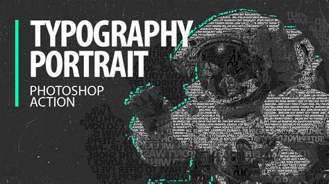 human typography photoshop tutorial typography portraits photoshop action tutorial part 1