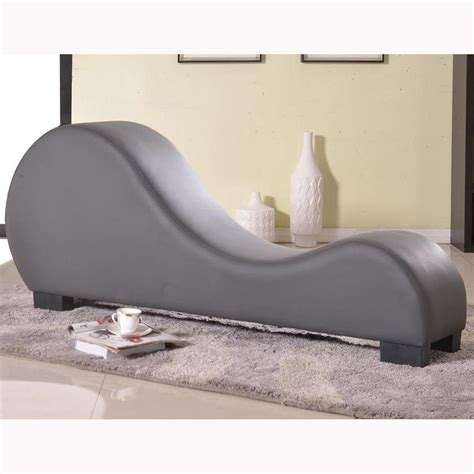 curved back chaise lounge venetian worldwide versa chair gray leatherette curved