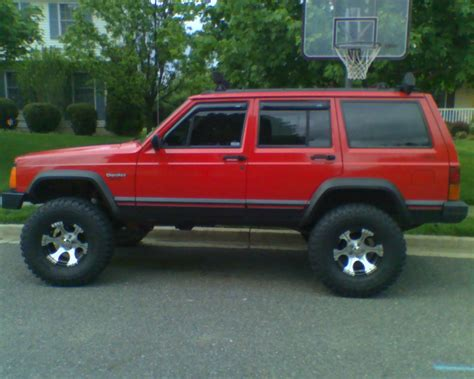 lifted jeep red pics for gt jeep xj lifted red