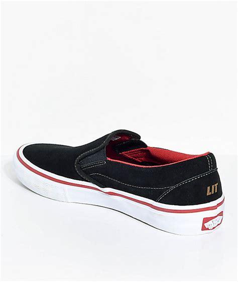 Sepatu Vans X Spitfire vans x spitfire slip on pro black suede skate shoes zumiez ca