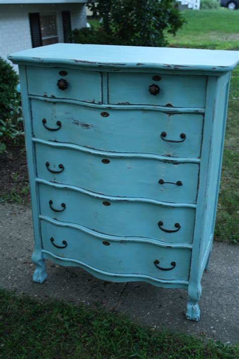 Turquoise Painted Dresser by Remodelaholic Turquoise Painted Dressers