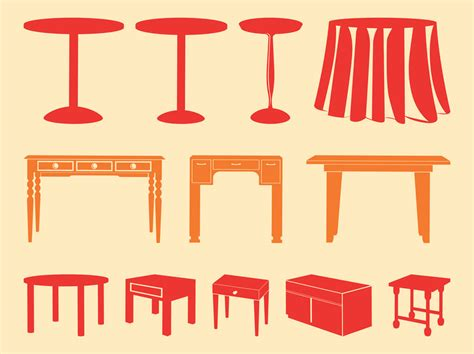table layout vector tables silhouettes vector art graphics freevector com