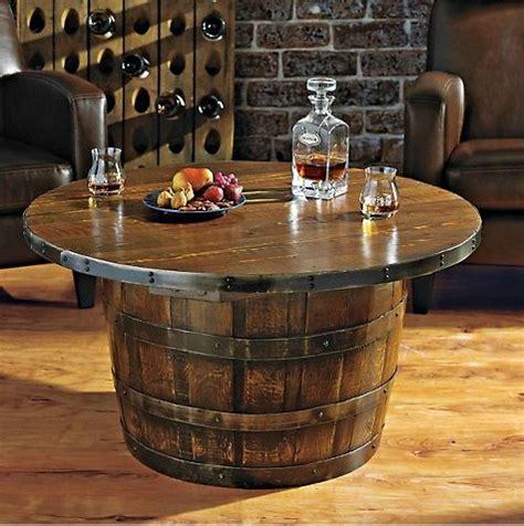 Handmade Round Vintage Oak Whiskey Barrel Table   Home Design, Garden & Architecture Blog Magazine