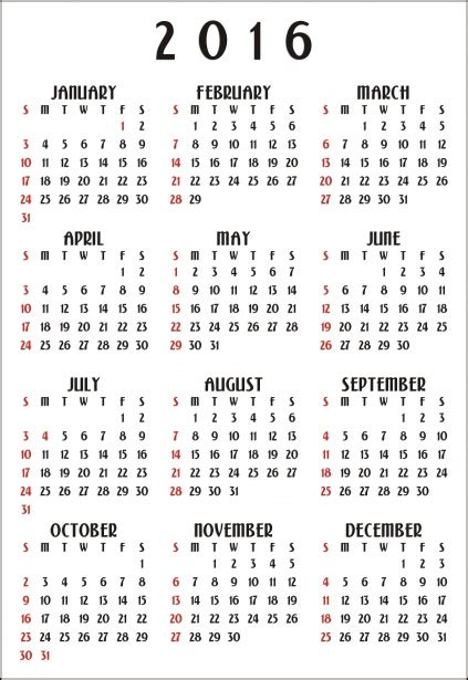 printable monthly calendar 2016 vertical 12 month calendar 2016 vertical free stock photo public