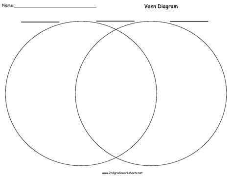 printable venn diagram free writing organizers worksheets