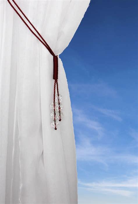 voile curtain tie backs tsar crystal beaded cord curtain tie back voile hold backs