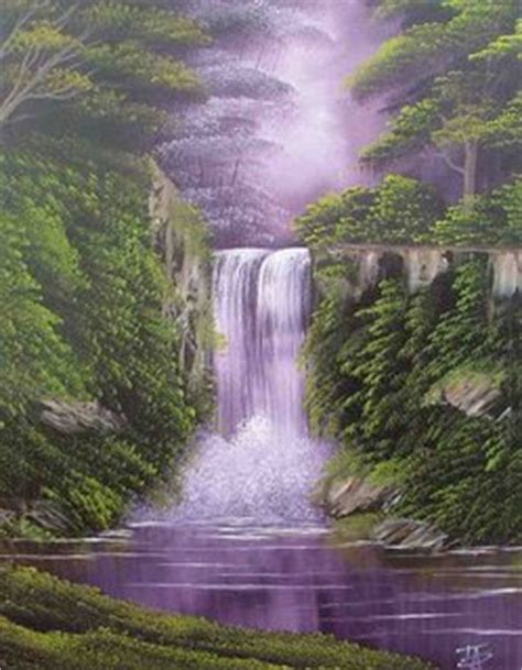 bob ross painting a waterfall beginners painting classes in east sussex bob ross