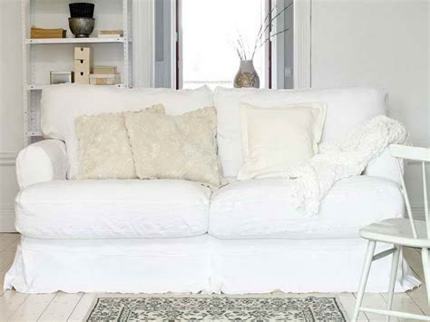 white slipcovered sofas comfortable white slipcovered sofa that brings