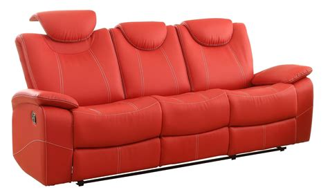 red reclining sofa talbot red double reclining sofa from homelegance 8524rd