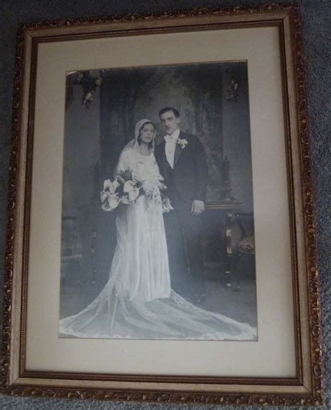 matted photos large antique framed wedding and family photo savethephotos