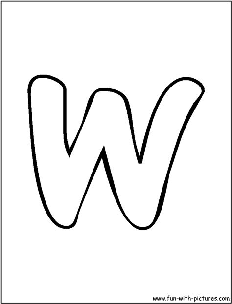 coloring page letter w 8 best images of printable letter w fonts cursive letter
