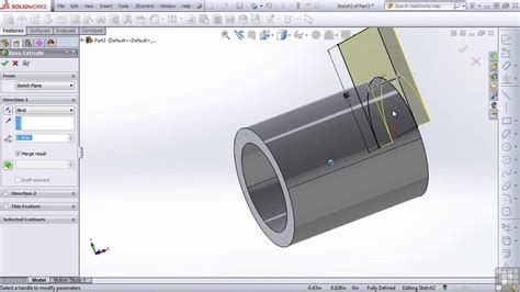 tutorial solidworks 2013 youtube solidworks 2013 tutorial mirror and feature order youtube
