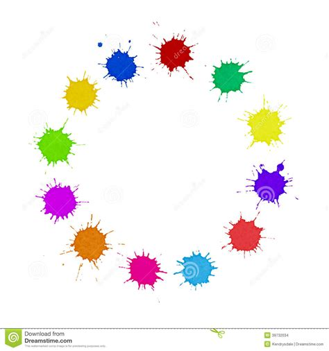 the color spot diversity concept multi colored paint spots circle stock