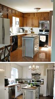 before and after 25 budget friendly kitchen makeover