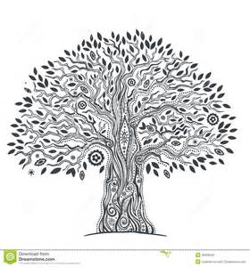 unique ethnic tree of life stock vector image 40029542