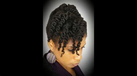 natural hair  minute cornrow  twist updo