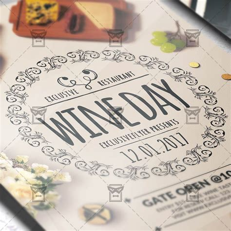 wine day premium flyer template exclsiveflyer free