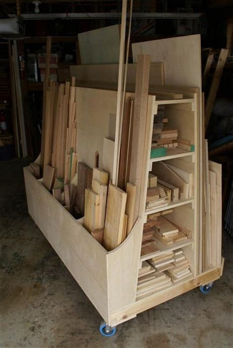 for the workshop material storage on pinterest lumber storage build an easy portable lumber rack diy projects for