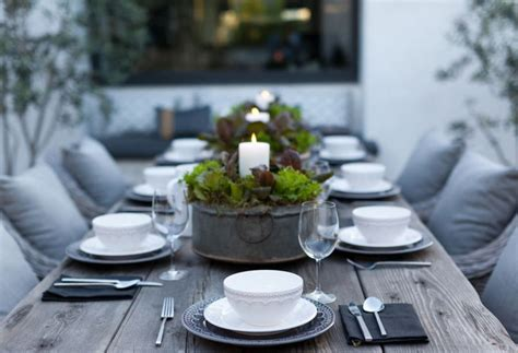 Candle Centerpieces For Dining Tables Outdoor Dining Table With Candle Centerpieces Decoist
