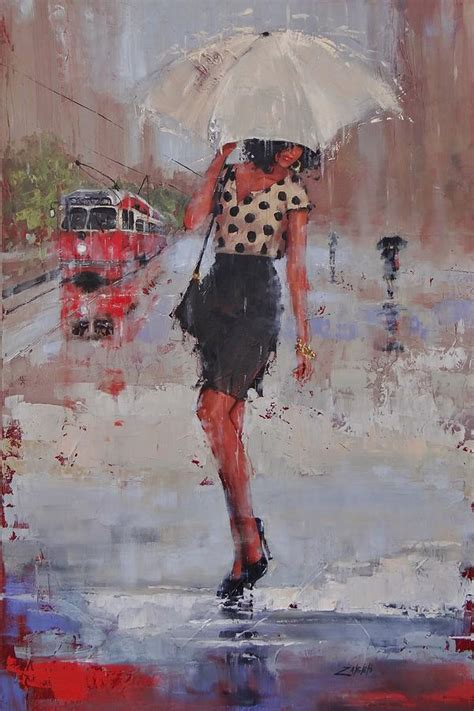 painting painting rainy day blues painting by zanghetti