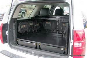 suv trunk storage survival gear vehicles