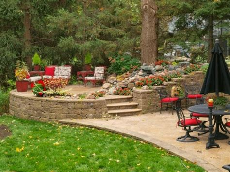 Backyard Vs Back Yard The Allan Block Backyard Design Ideas Raised Patio