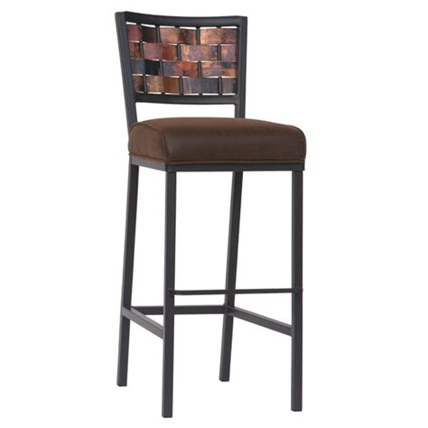 county ironworks rushton counter stool w copper