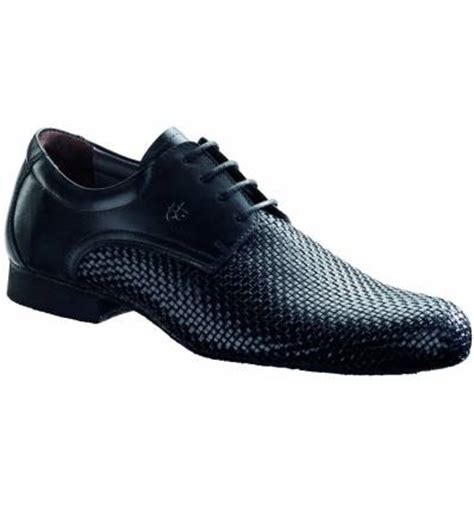 salsa shoes mens mens shoes in woven black leather for ballroom