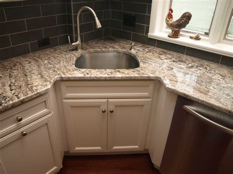 kitchen cabinets corner sink corner sink transitional kitchen newark by